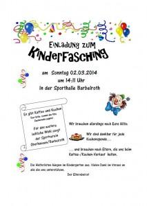 Flyer-Kinderfasching
