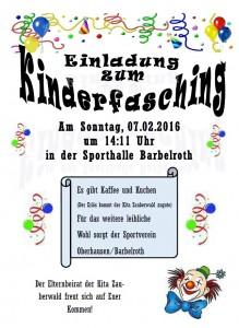 Kinderfasching 2016